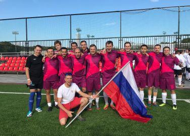 22. Europapokalspiel des Unternehmens Merck in Moskau