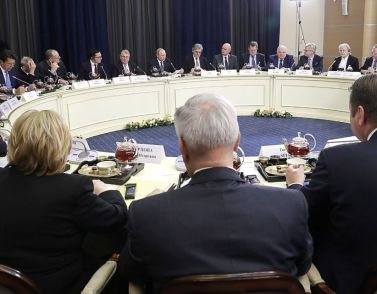 Путин пообщался с немецким бизнесом